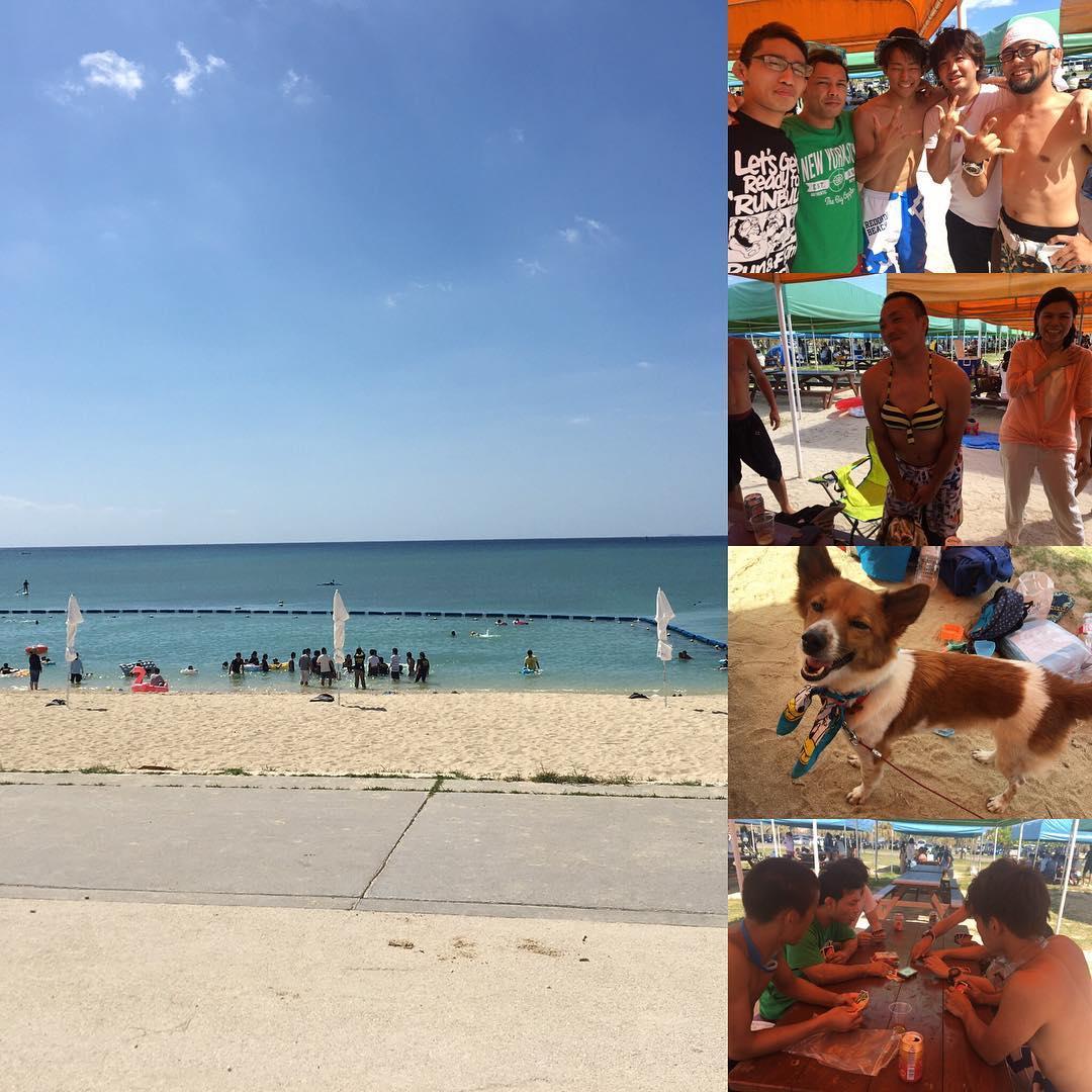 Theパラエストラ沖縄本日は快晴の海でビーチパーティ大会! 楽しいですねー とても良い一日。  #パラエストラ #沖縄 #那覇 #与儀 #MMA #shooto #コザ #総合格闘技 #修斗 #キックボクシング #柔術 #jiujitsu #ダイエット