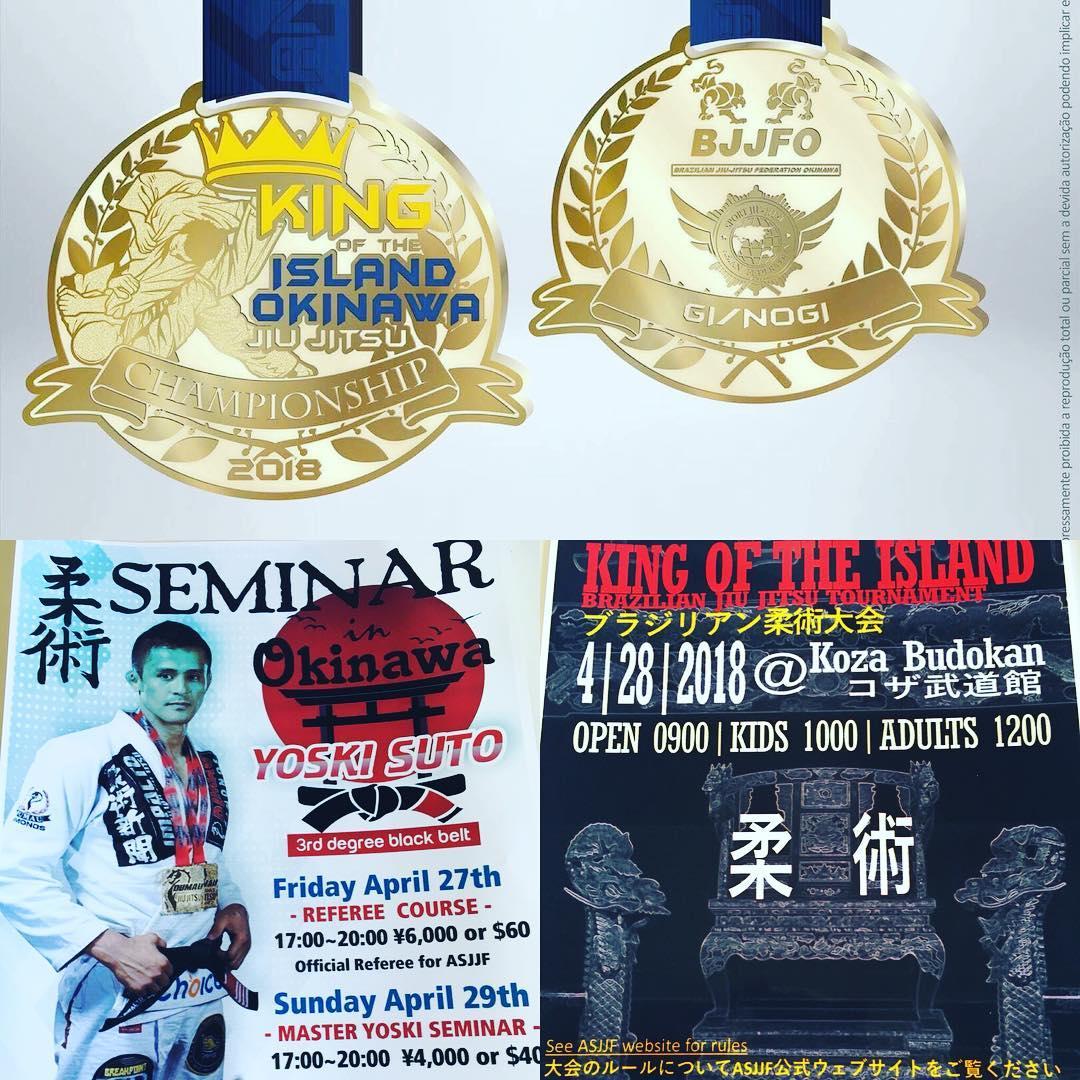 4/28日(土)コザ武道館にてイバン Sakamoto先生主催の『KING OF THE ISLAND』が開催されます! 翌日はヨースキー先生のセミナーも開催されます。 県内柔術家の皆様チェックチェックよろしくお願いします!  #パラエストラ #沖縄 #那覇 #与儀 #MMA #shooto #コザ #総合格闘技 #修斗 #キックボクシング #柔術 #jiujitsu #ダイエット