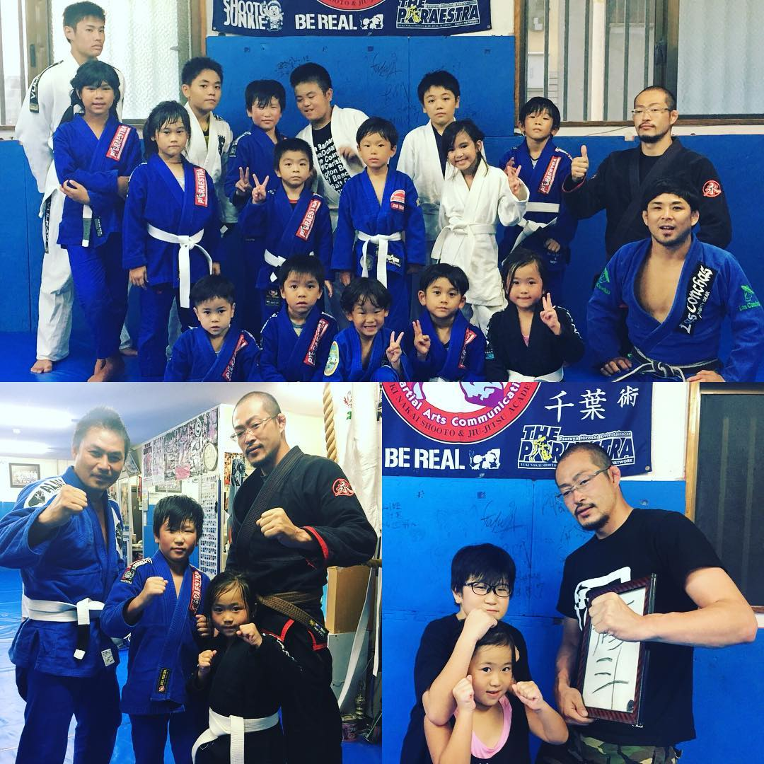 昨日はパラエストラ千葉の伝説のプロシューター西岡裕ファミリーがTheパラエストラ沖縄に練習に来てくれました! 息子の修斗くんとミサキちゃんはキッズクラスから参加、大人クラスも参加してくれました。  子供もいるんで柔術クラスまで参加したら帰りますー、と初めは言っていましたが、 闘志が湧いてきたのか柔術クラス後の修斗クラスも、 やっぱり参加していいですか?! と、グラップリングスパーリングもガンガンしていって結局最後の時間まで練習していきました!  16,7年前、高校生でパラエストラ千葉に入会した西岡は当時練習がとにかく楽しかったようで、毎日毎日練習に来てパラエストラ千葉のジムに西岡がいない日はなく、プロになるのも必然でした。 目の怪我により試合から遠ざかってしまいましたが、続けていれば非常に高い確率でチャンピオンになれた逸材だったと思います。  練習後は行きつけの沖縄料理屋さん「うちなー家」で懐かしい話や最近の近況、今後の展望など沢山話が出来て良かったです。 話しの流れから今年中にパラエストラ千葉初期メンバーの同窓会をやろう! となったので時間を見て企画したいと思っています。 パラエストラ千葉の初期メンバーの方々声掛けさせてください、よろしくお願いします^^ 西岡ファミリーまた沖縄で待ってるぞ―、サンキュー!  #パラエストラ #沖縄 #那覇 #与儀 #MMA #shooto #コザ #総合格闘技 #修斗 #キックボクシング #柔術 #jiujitsu #ダイエット