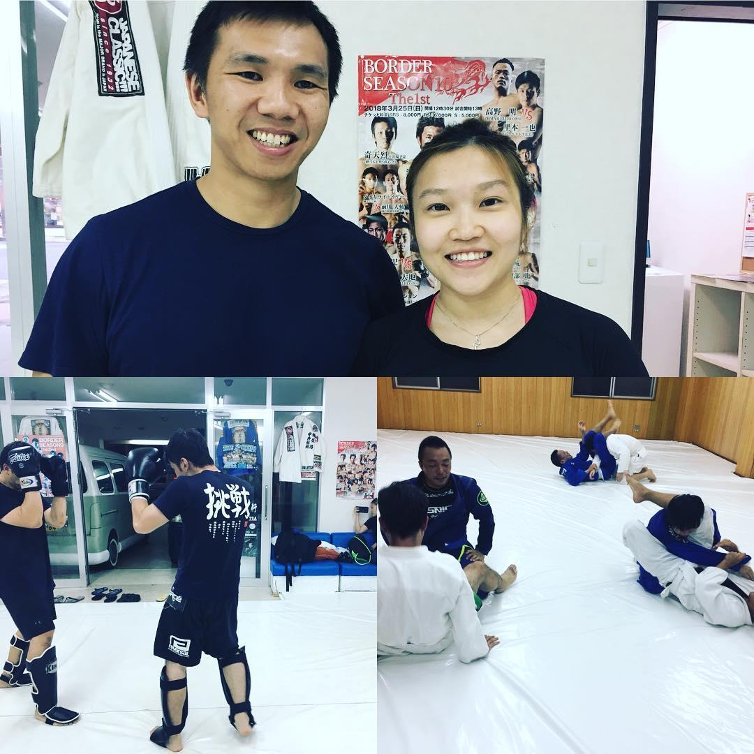 昨日はコザスタジオにシンガポールよりダニエルさんとムーンさん(共に青帯)が出稽古にきてくれました! キックボクシングクラスから柔術クラスまでぶっ続けの4時間のトレーニング、パワフルな2人でした。 本日9/11火曜日コザスタジオにはグランドスラムAPPから全日本アマチュア修斗出場者、餘辺直也くんが出稽古に来てくれます。  #パラエストラ #沖縄 #那覇 #与儀 #MMA #shooto #コザ #総合格闘技 #修斗 #キックボクシング #柔術 #jiujitsu #ダイエット