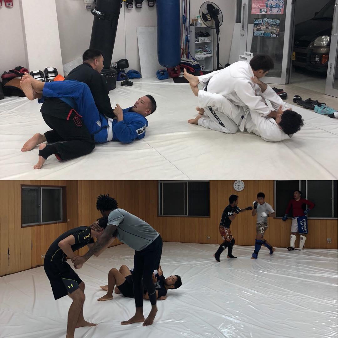 火曜日パラエストラコザスタジオ! 前半は柔術クラス^ – ^ キッズから大人まで楽しく技練習しています! 後半は修斗クラス🤼♂️ レスリング技術をやってグラップリング、総合のスパーリングをガンガンまわしてます!! #パラエストラ#コザ#与儀#那覇#shooto#柔術#jiujitsu#沖縄#mma#フィットネス#ダイエット