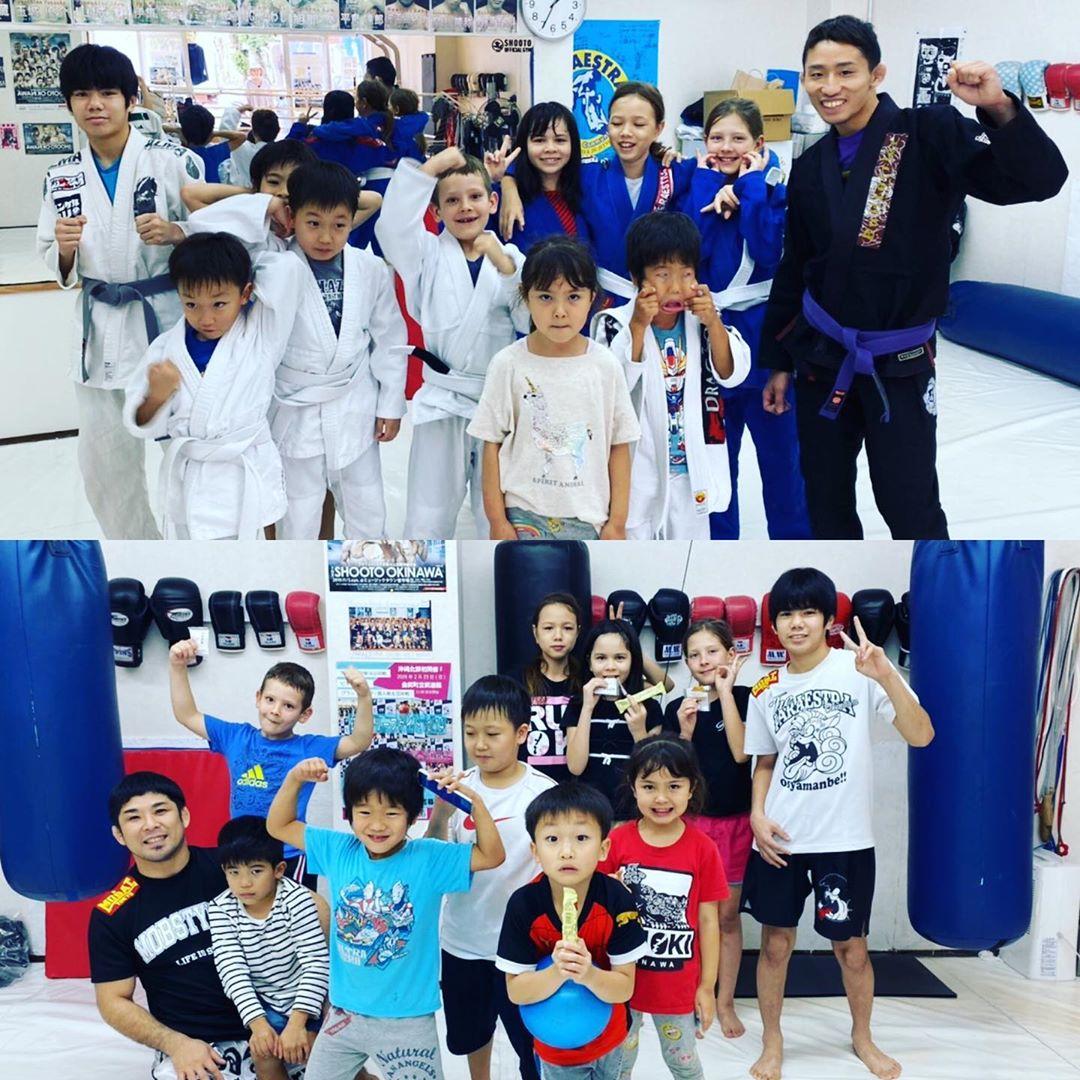 コザスタジオの子供達は、日本、韓国、ロシア、アメリカ、ブラジル、香港とインターナショナルで柔術にキックボクシング にいつも元気いっぱいでトレーニングしています!! 先日はブレンダが引越しの為、最後のクラス参加でした。 またどこかで会える事を信じて、ブレンダお疲れ様でした! 毎週(水)(金)キックボクシング 、(土)柔術と4歳から12 #ダイエット