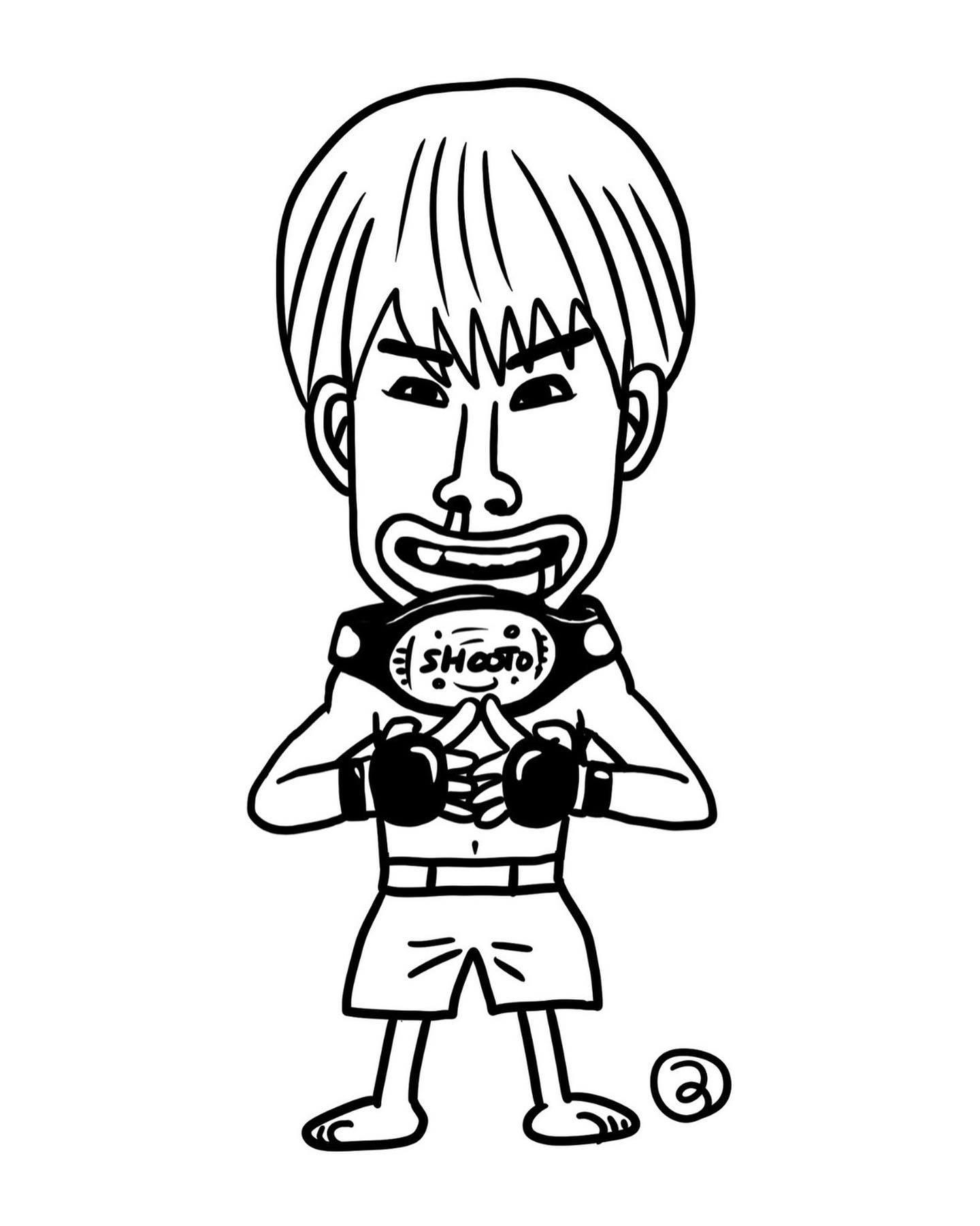 『モンモンモン』『みどりのマキバオー』でお馴染み、つの丸先生(スタジオ将軍)作、第8代修斗世界フライ級チャンピオン平良達郎(Theパラエストラ沖縄/insprit)!パラエストラ千葉ネットワーク王者達に仲間入りさせていただきました!つの丸先生感謝申し上げます!#つの丸#スタジオ将軍#平良達郎#パラエストラ #沖縄 #那覇 #与儀 #MMA #shooto #コザ #総合格闘技 #修斗 #キックボクシング #柔術 #jiujitsu #ダイエット